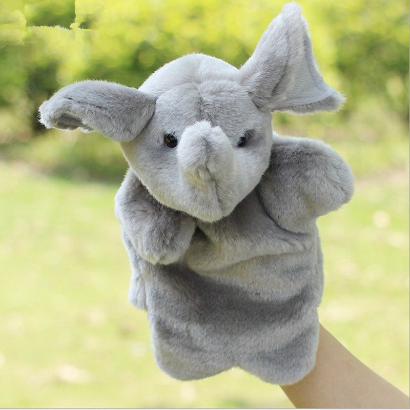 Hand-Puppets-Plush-Puppets-Elephant-Cow-Cat-Mouse-Monkey-Plush-Doll-Children-Educational-Toys-Brinquedo-Marionetes-Fantoche-5