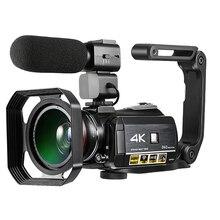 Ordro UHD 4 К WI-FI цифровая видеокамера с 3,0 »сенсорным дисплеем WI-FI ночного видения Цифровая видеокамера Горячий башмак