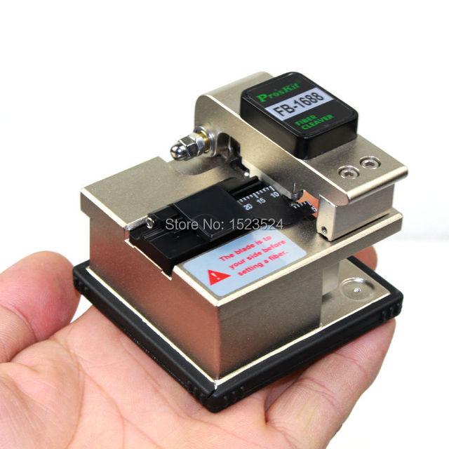 Marca Proskit FB-1688 cortador de fibra de fibra óptica de alta precisão Cleaver 16 ponto de corte com 48000 vezes