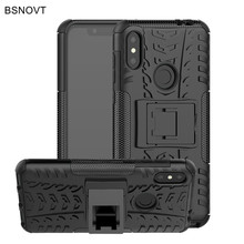 For Motorola One Power Case Silicone & Plastic Armor Moto P30 Note Cover /