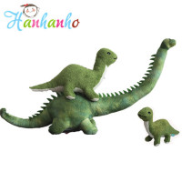 Giant Simulation Green Long Neck Dinosaur Plush Toy Big Stuffed Animal Kids Sleeping Toy Birthday Gift