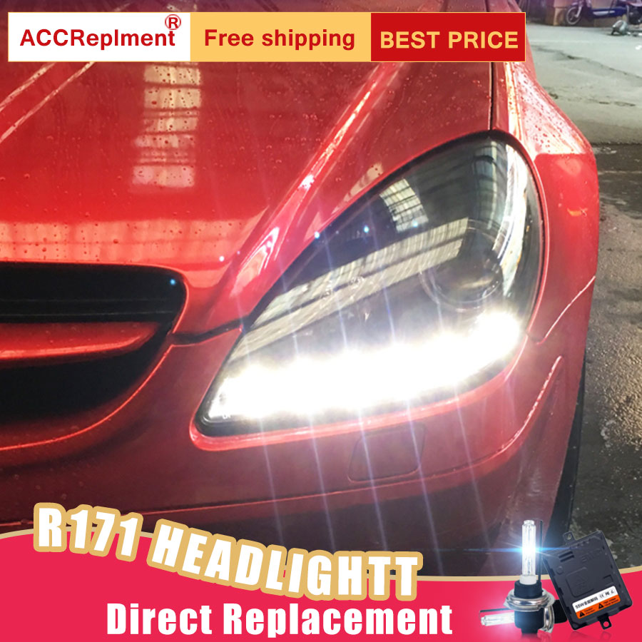 2Pcs LED <font><b>Headlights</b></font> For Benz <font><b>R171</b></font> 2008 led car lights Angel eyes xenon HID KIT Fog lights LED Daytime Running Lights image