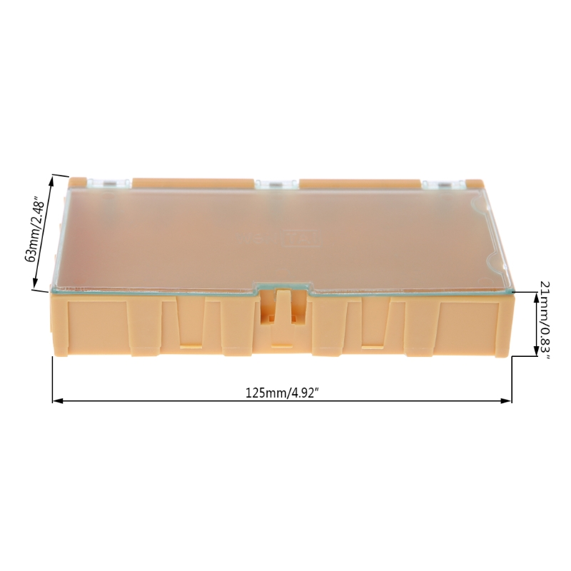 Mini SMD SMT Electronic Box IC Electronic Components Storage Cases 125x63x21mm 649E