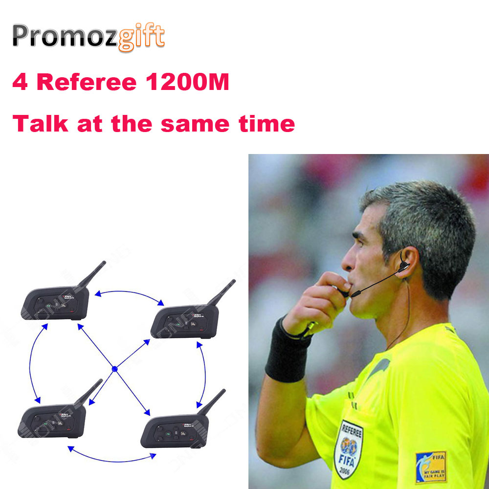 2018 4 Referees talk at the same time Soccer Coach Football bluetooth wireless intercomunicadore arbitro Referee