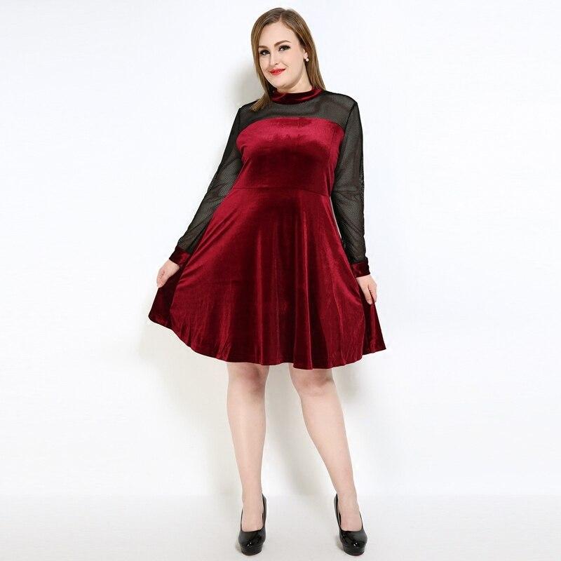plus size dress in red yarn