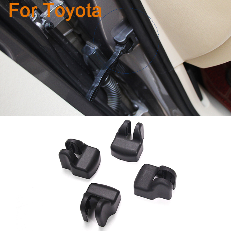 4pcs/lot Car styling Door Check Arm Protection Cover For Toyota FJ Cruiser RAV4 Sienna Alphard Toyota 86 Highlander Sequoie EZ