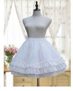 Image 5 - Sweet Lolita Chiffon Onder Rok Korte A lijn Cosplay Petticoat met Gelaagde Ruches