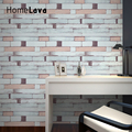 10mx45cm/Roll Back with Glue Vinyl Self Adhesive Wallpaper PVC Wall Stickers Waterproof Brick Wall Paper For Home DIY Decoration