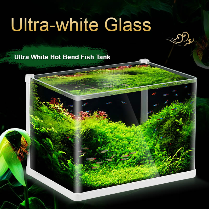 Aquarium de réservoir de poissons Aquarium de pliage chaud réservoir de poissons en verre Ultra-clair petite Table de bureau d'aquarium