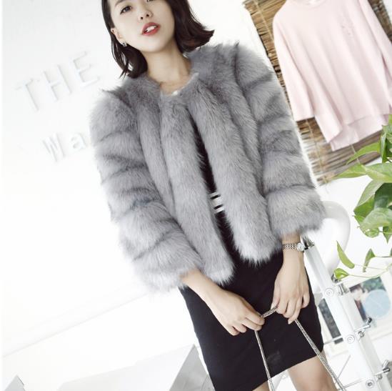cf2f67f04fb78 Clobee 2018 Winter Womens Faux Fur Coat Artificial Fur Vest Furry Vests Femme  Jackets Plus Size ...