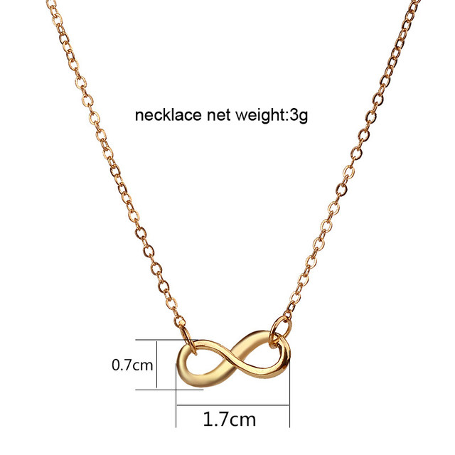 Online shop infinite love pendant necklaces mini lucky number 8 infinite love pendant necklaces mini lucky number 8 clavicle chains necklace for women girls valentines day gift card jewelry aloadofball Image collections