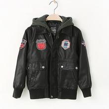 Autumn Spring Leather Jacket for Boys, Kids Leather Jacket,Advanced PU Imitation Leather Coat,Trim Fit Style clothing (3-12Yrs) недорого