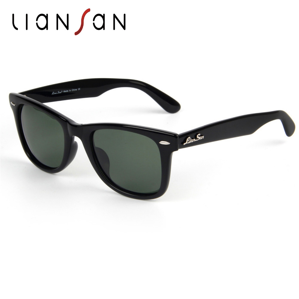 LianSan Vintage font b Polarized b font Female Square Sunglasses Women Men Retro Luxury Brand Designer