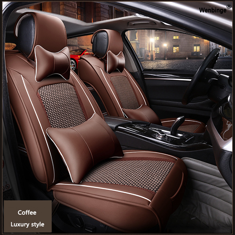 High Quality Leather Car Seat Cover For Subaru Forester Outback Tribeca Heritage Xv Impreza Legac Automobiles Accessories