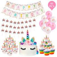 Huiran Unicorn Decoration Unicorn Party Decoration Unicorn Birthday Party Supplies Happy Birthday Decoration Party Birthday