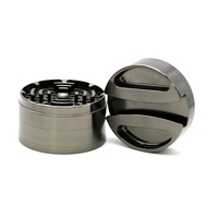 1PCS New Top Quality Large Dia 75mm 4 Parts Herb Grinder Metal Zinc Alloy Tobacco Herbal Crusher Hand Muller Spice Grinder