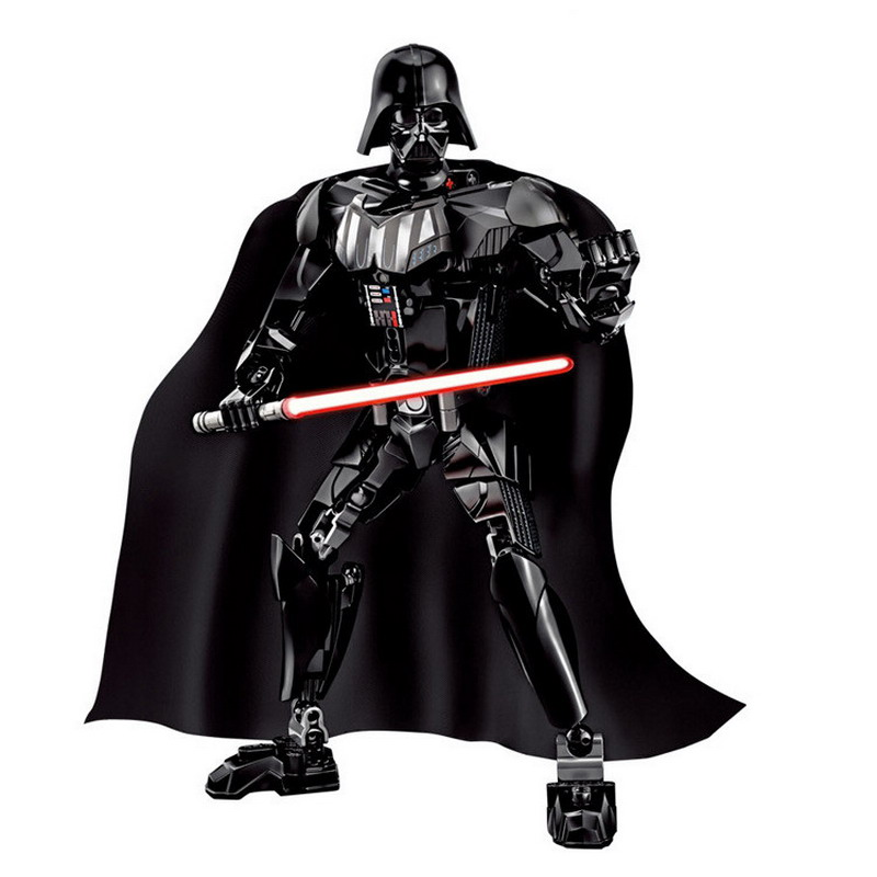 KSZ Star Wars 7 Kylo Ren Darth Vader with Lightsaber Storm Trooper Figure Blocks Building DIY Toys For Children Compatible Legoe