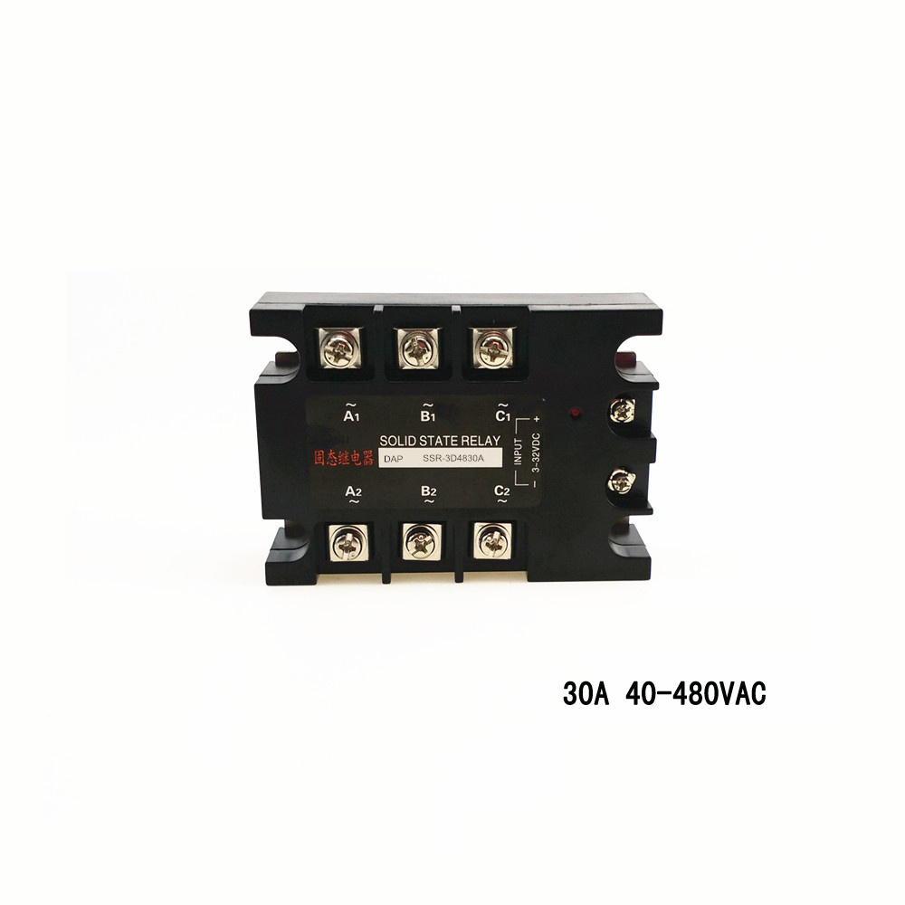 цена на High-power three-phase solid state relay 30A 40-480vac zero-cross non-contact switch SSR-3D4830A