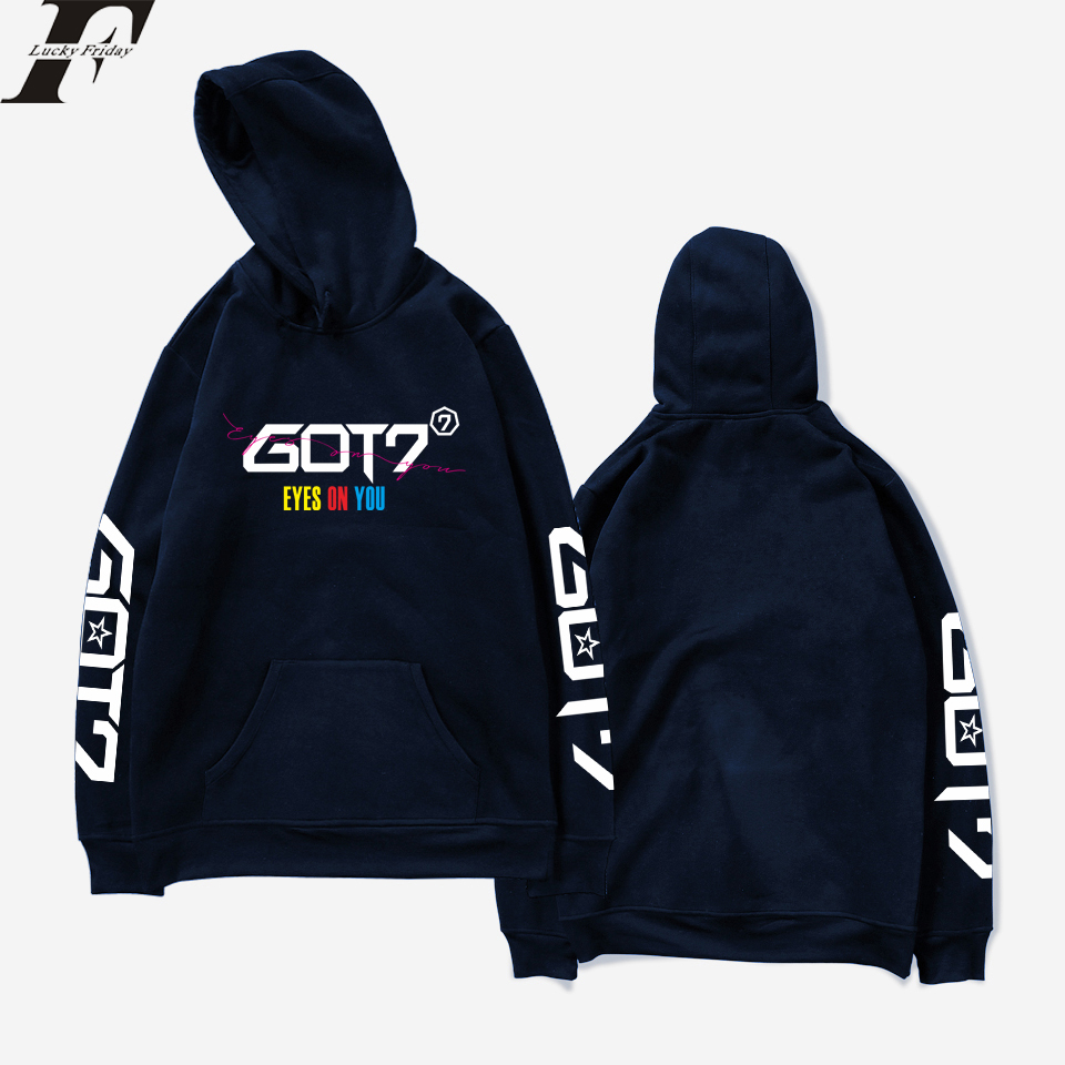 GOT7 EYES ON YOU Lovely Hoodies Women Print Creative Design Hot Sale Men Hoodie Sweatshirt Hoodies Men Coat Plus Size 4XL