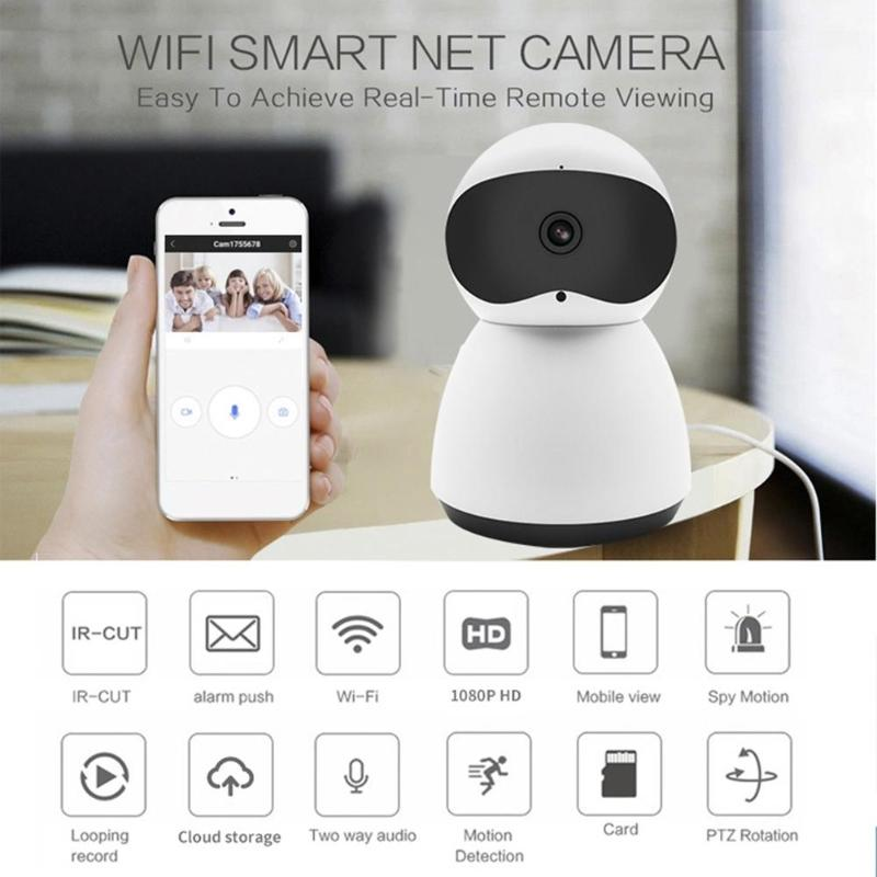 US $28 22 |Newest Y8 Wireless WIFI 1080P Pan Tilt Home Security IP Camera  IR Night Vision Two Way Audio Webcam Camcorder Video Recorder-in