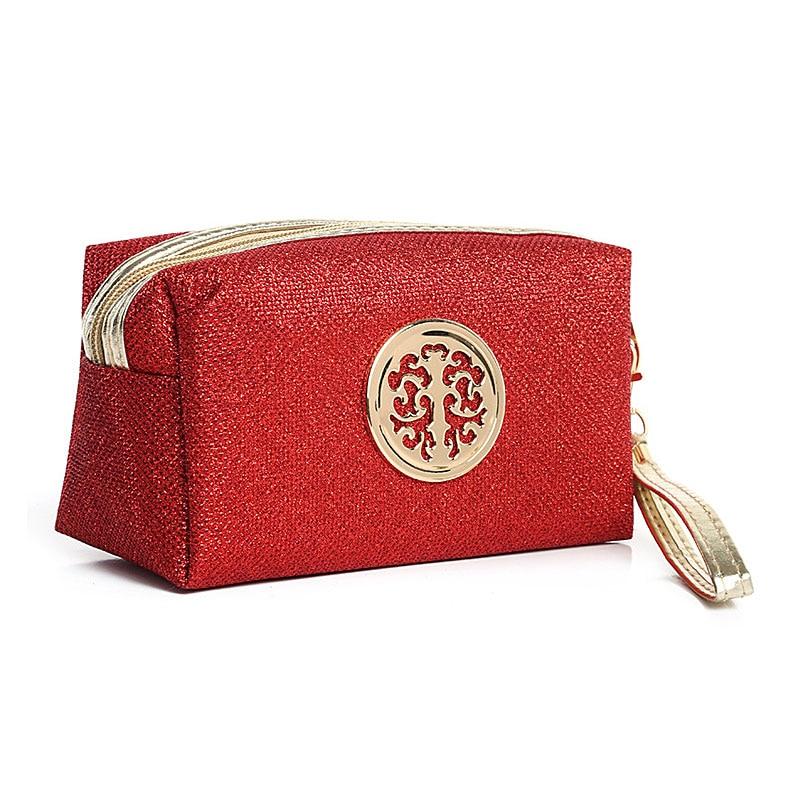 Wulekue Woman Organizador Stitching Clutch Pu Hand Bags Wash Cute Makeup Bag Necessarie Cosmetic Bag Travel Organizer