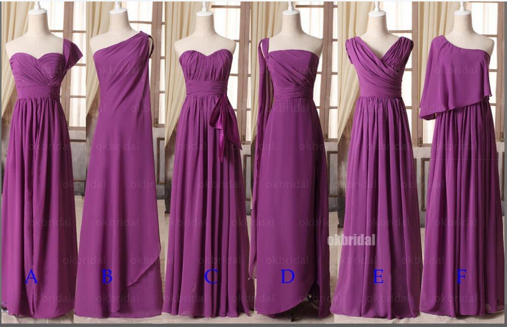 Online Get Cheap Púrpura De Dama De Honor Vestidos Largos De ...