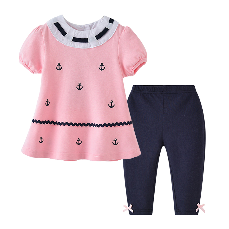 Auro Mesa Balita Gadis Pakaian set Gadis jangkar T-shirt + Celana - Pakaian anak anak