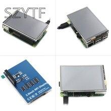 ПЭ3 малины PI2 B + 3 3.5 дюймов Резистивный сенсорный ЖК-дисплей