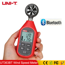 UNI-T UT363BT Wind Speed Meter Digital Bluetooth Pocket Size Anemometer Measurement Thermometer Mini Meters Upgraded UT363