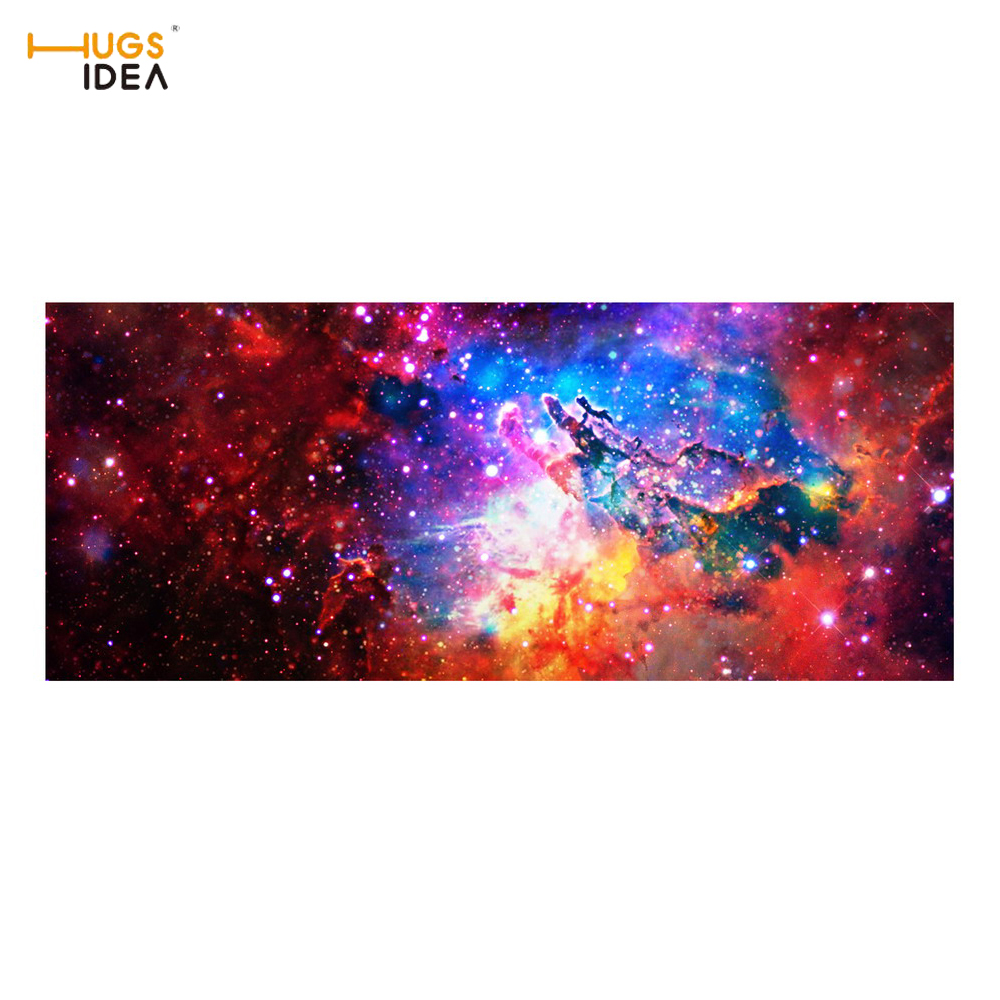 HUGSIDEA Galaxy Cloud Blue Sky Creative Stair Mats For Home Decore Stars Print Thin Alfombras Dormitorion Carpets Rugs for Stair