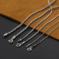 Um grande número de atacado S925 prata esterlina jóias de prata estilo clássico Unisex colar de corrente corda