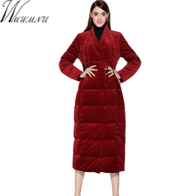 Wmwmnu Women thick Cotton-padded jacket coat 2017 winter High Quality Velvet fabric Parka casual new European Style outwear 341a