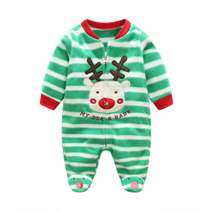 3-12M Baby footies Newborn Baby Boy Girl Winter Clothes Colorful Tiny Cotton footies Unisex Baby Jumpsuits Winter Baby Clothes