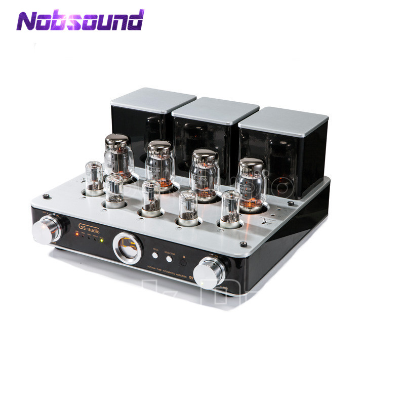 Nobsound Hi-End KT88(EL34) Vacuum Tube Amplifier Integrated Stereo HiFi Power Amplifier 2017 new nobsound hifi hi end audio noise power purifier tube amplifier home audio power supply filter ac socket