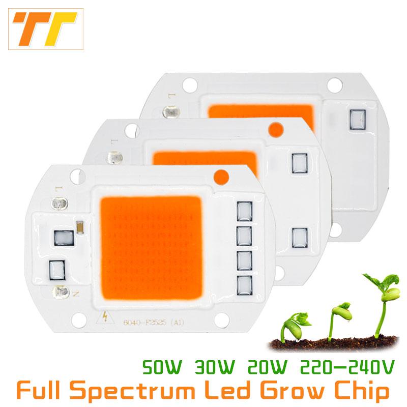 เติบโตชิปแสงโคมไฟเต็มสเปกตรัม AC 220 โวลต์ 20 วัตต์ 30 วัตต์ 50 วัตต์ led เติบโตชิปเต็มสเปกตรัม 380-780nm สำหรับในร่ม led เติบโตไฟพืช