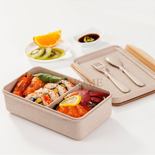 цена на Lunch Bento Box with Fork & Spoon Reusable Bento Lunch Box Large Size Food Container Durable Meal Prep Container Box