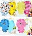 5 Unids/lote Mamelucos Del Bebé Recién Nacido algodón de los Bebés Ropa de la Historieta de manga Larga Monos Infantiles Ropa Boy Ropa de Bebes