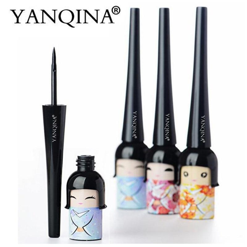 Beauty japanese doll Black long-lasting Eyeliner Liquid Eye Liner Pen Pencil Waterproof  ...