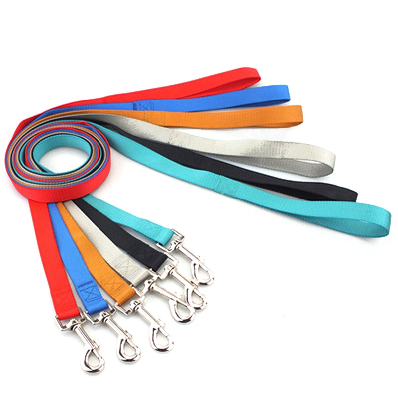 Candy-colored Nylon Pet Dog Leash1.2M Hot Sale Pure Color Dog Leashes Harness Leash Pet Supplies