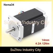 Новое прибытие! ЧПУ NEMA34 шагового двигателя 86X155 мм 12N. m 4.2A вал 14 мм шаговый двигатель 1700oz-ин для ЧПУ гравировальный станок 3 Dprinter