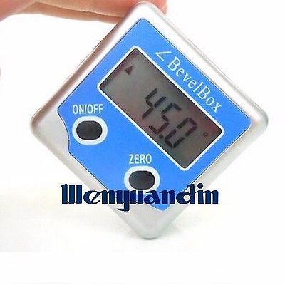 Electronic Digital Inclinometer Angle Protractor Gauge Bevel Box Meter Testing Tool Magnetic Base 0-360 Degree Metal Box  цены