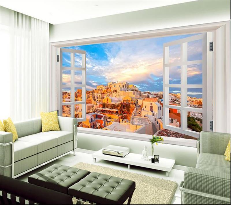 Living Room Murals online get cheap window wallpaper murals castle -aliexpress