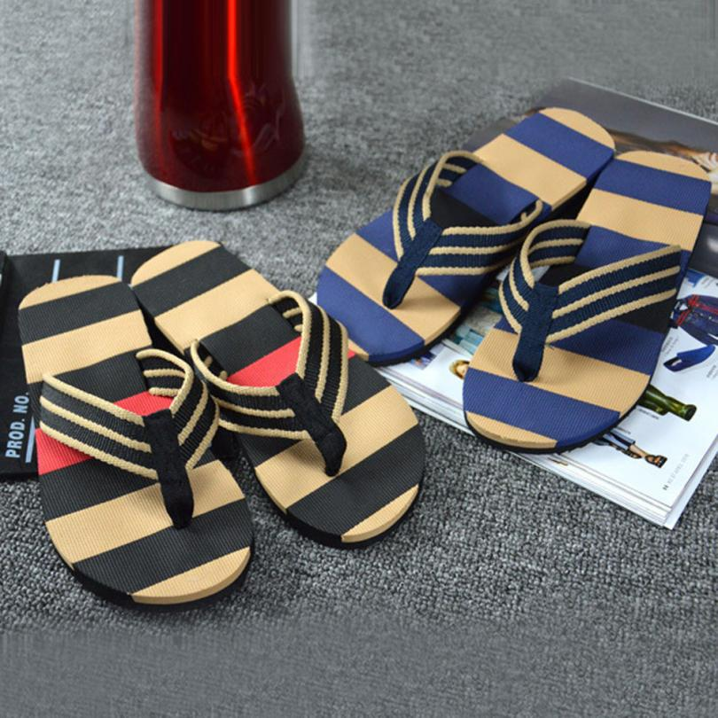 SAGACE shoes Flip-Flops Men Summer Stripe Flip Flops Shoes Sandals Male Slipper Casual shoes men 2018MA11 sagace shoes men 2018 men summer englon antiskid flip flops shoes sandals male slipper flip flops apr11