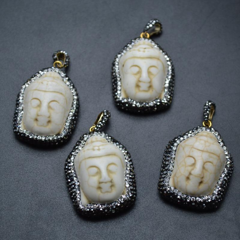 Agate pierre perle rose marbré blanc lentille grand pendentif en 35 mm Donut 1 lots