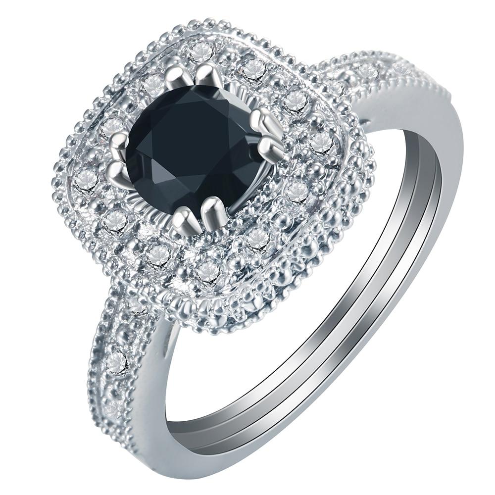 Der GüNstigste Preis Luxus Solide 925 Sterling Silber Für Immer Klar Lila Cz Kristall Platz Finger Ringe Für Frauen Schmuck Weihnachten Geschenk Verlobungsringe