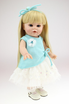 40CM  Girl Doll for sale / cute blond hair AMERICAN PRINCESS reborn baby dolls baby real alive bonecas