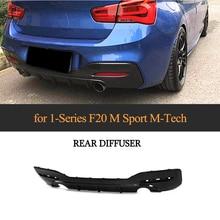 1 Series Car Carbon Fiber Rear Bumper Diffuser Lip for BMW F20 M Sport 120i Hatchback 2 Door 4 Door 2016 2017 2018 цены онлайн
