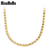 New Korean Health Necklace Magnetic Power Stainless Steel Energy Jewelry Magnets Germanium Necklace