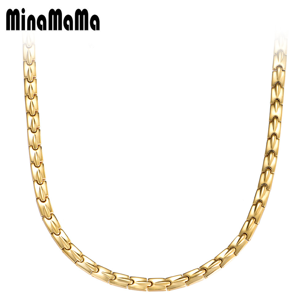 New Korean Luxury Gold Color Stainless Steel Magnetic Necklaces For Women Power Magnetic Germanium Necklace Energy Jewelry vichy гель сыворотка для всех типов кожи минерал 89 30 мл