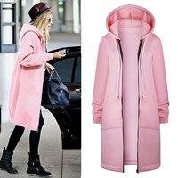 Autumn Winter Fashion Hairy Coat Women Famale Overcoat Medium Long Slim Blend Woolen Outerwear Plus Size